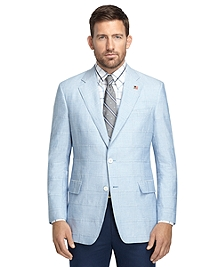 Regent Fit Blue Chambray Patch Sport Coat