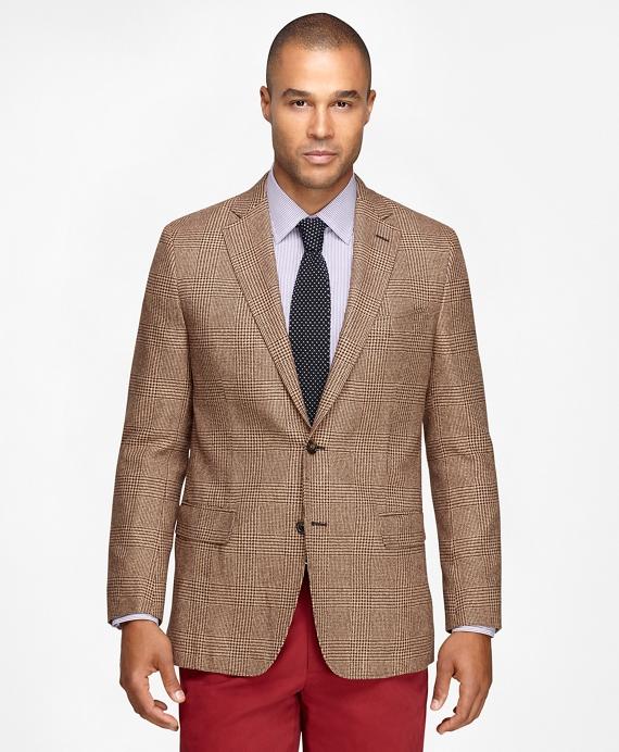 Fitzgerald Fit Large Plaid Sport Coat Tan