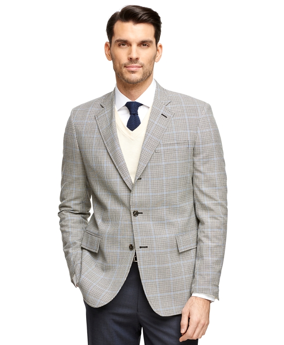 Regent Fit Own Make Check Sport Coat Black-Grey