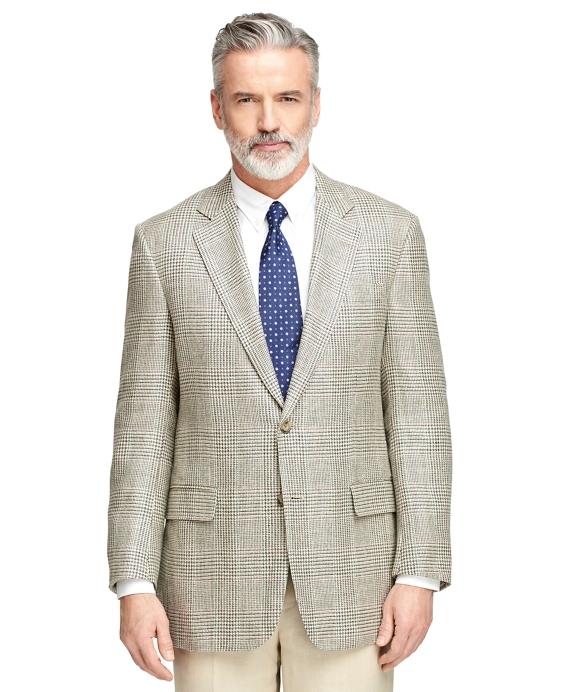 Madison Fit Plaid with Windowpane Sport Coat Grey