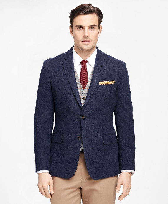 Milano Fit Two-Button Wool Sport Coat Blue