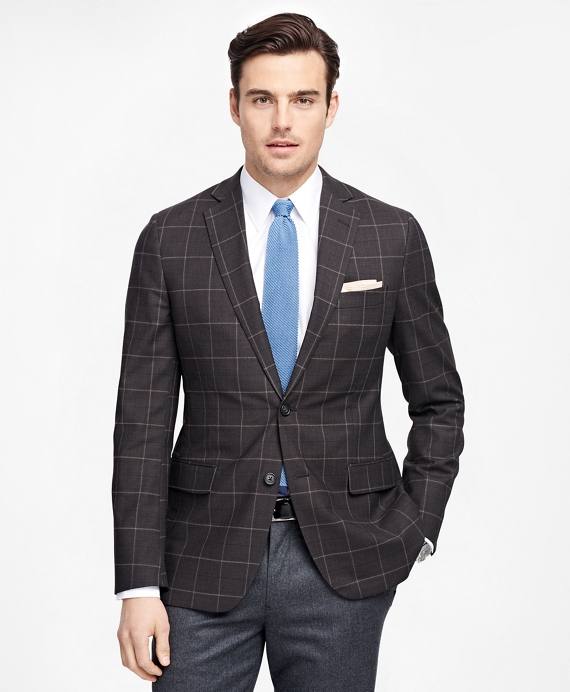 Fitzgerald Fit BrooksCool® Windowpane Sport Coat Charcoal