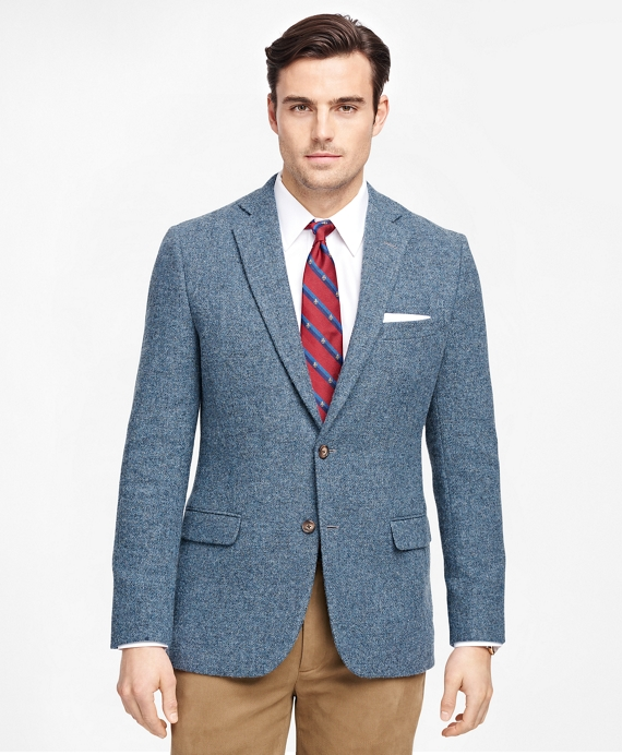 Fitzgerald Fit Harris Tweed Sport Coat Blue