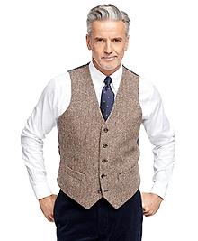 Harris Tweed Herringbone Vest