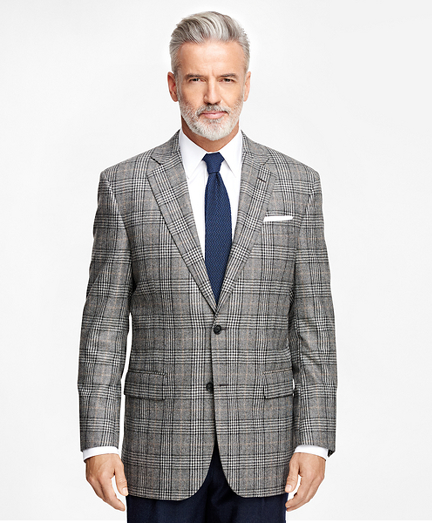 Madison Fit Saxxon™ Wool Plaid with Deco Sport Coat