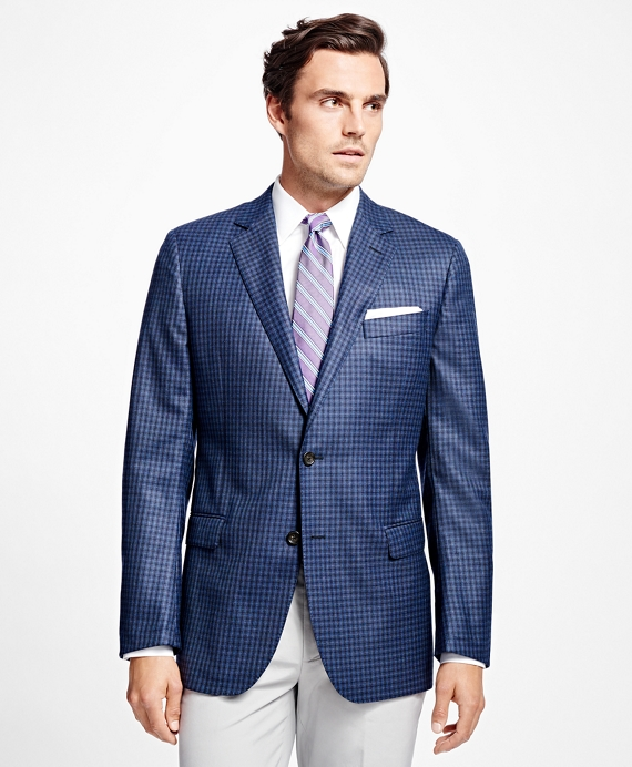 Fitzgerald Fit Saxxon™ Wool Multi Check Sport Coat Blue