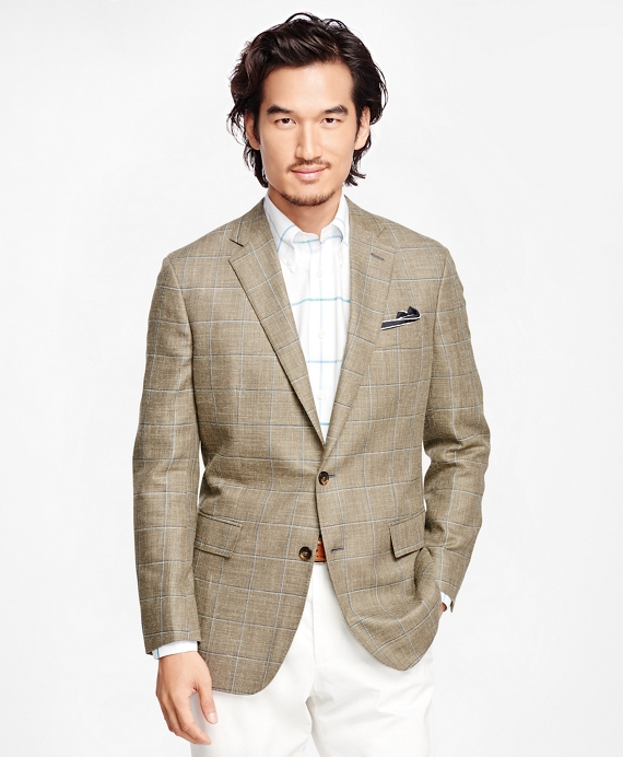 Regent Fit Windowpane Sport Coat Sage