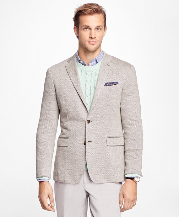 Milano Fit Herringbone Sport Coat Grey