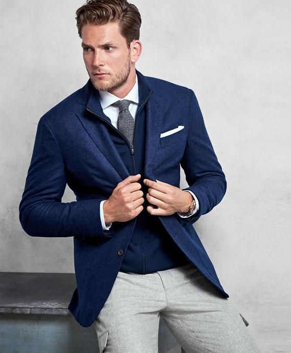 Golden Fleece® Blue Cashmere Sport Coat Blue