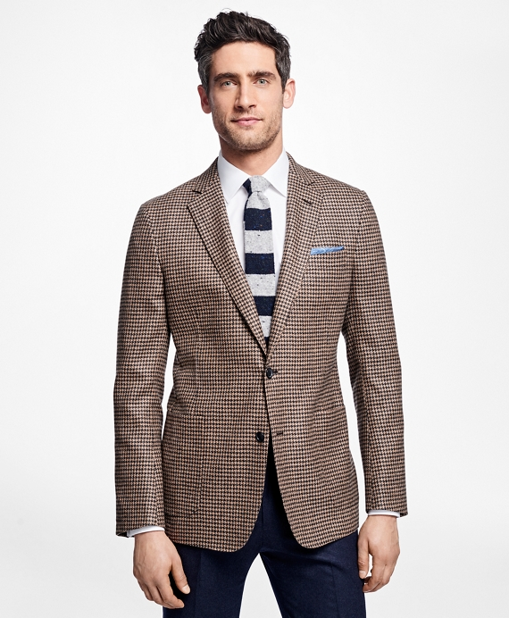Regent Fit Houndstooth Sport Coat Camel-Grey