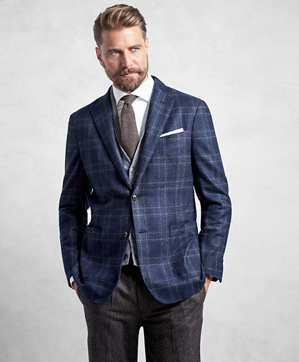 Golden Fleece® Blue Plaid Sport Coat