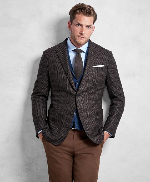 bb27a735826 Golden Fleece® Brown Rust Texture Sport Coat - Brooks Brothers