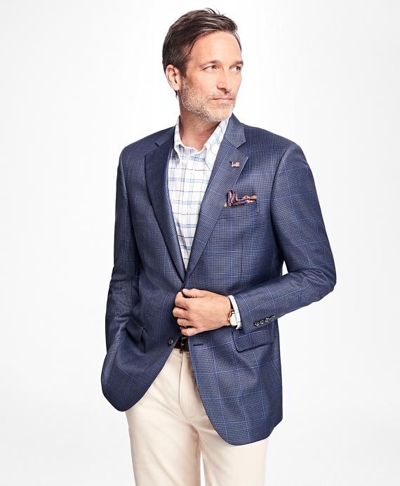Madison Fit Saxxon™ Wool Check with Windowpane Sport Coat Blue
