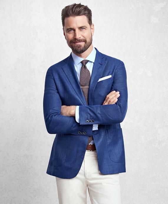 Golden Fleece® BrooksCloud™ Solid Hopsack Sport Coat Blue