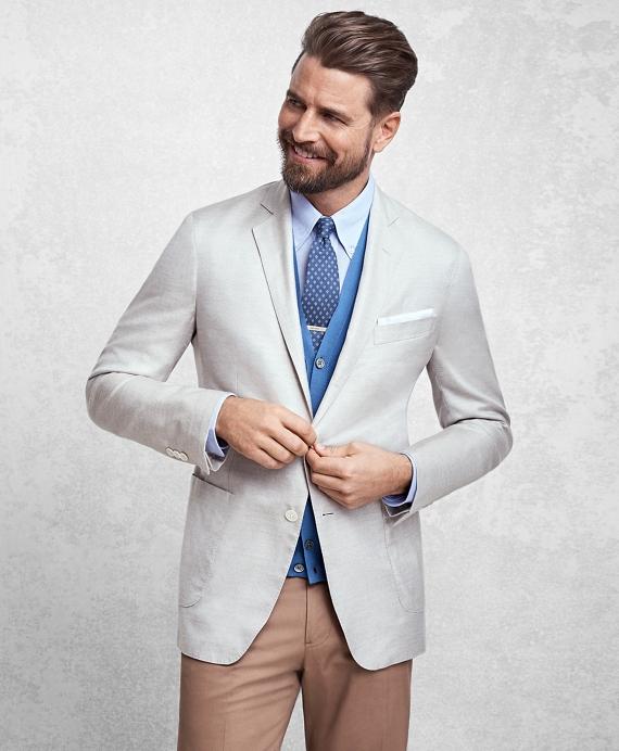 Golden Fleece® BrooksCloud™ Silk Sport Coat Ecru