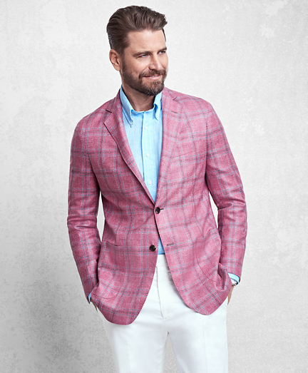 Golden Fleece® Rose Plaid Sport Coat