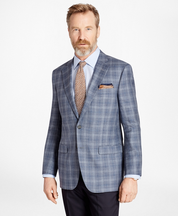 Madison Fit Saxxon™ Wool Triple-Check Sport Coat Blue