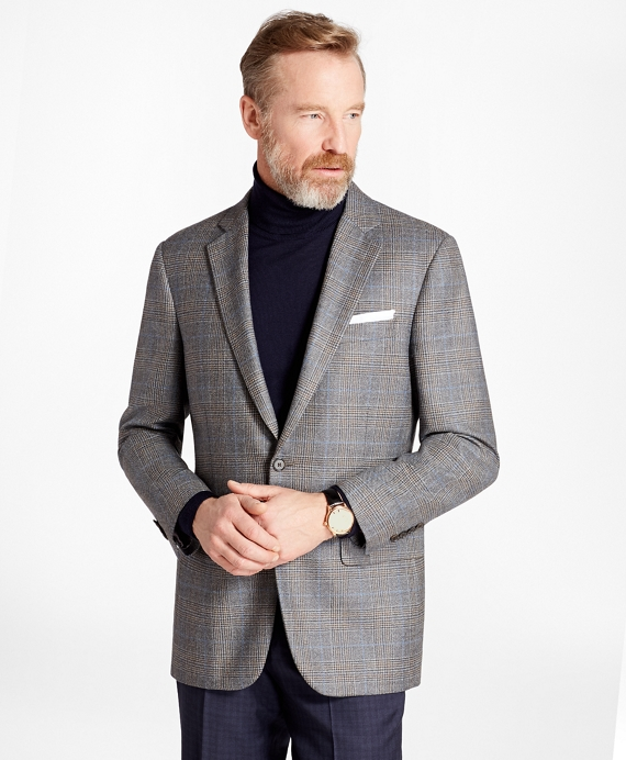 Madison Fit Plaid with Deco Sport Coat Grey