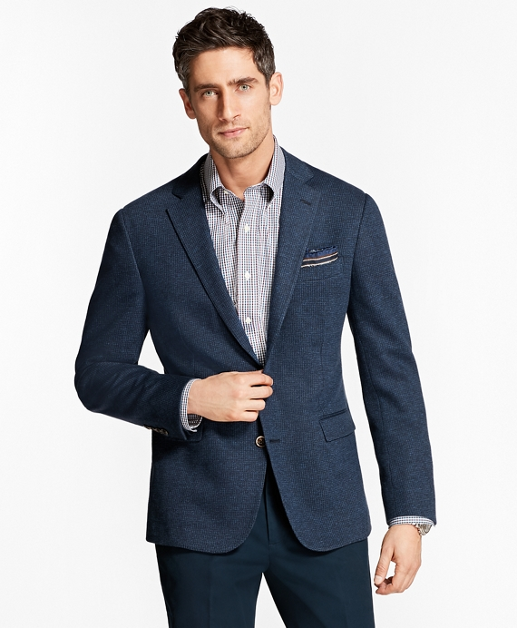 Regent Fit Houndscheck Sport Coat Blue