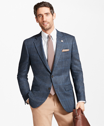Madison Fit Saxxon™ Wool Brokenbone with Deco Sport Coat
