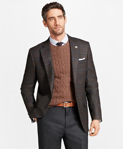 Madison Fit Saxxon™ Wool Plaid Sport Coat