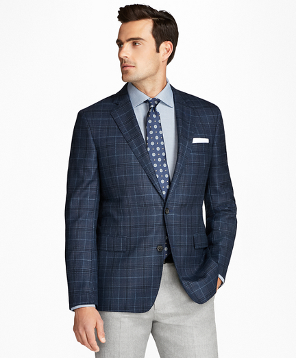 Regent Fit Saxxon™ Wool Plaid with Deco Sport Coat