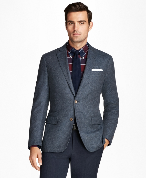 Regent Fit Wool and Cashmere Sport Coat Blue
