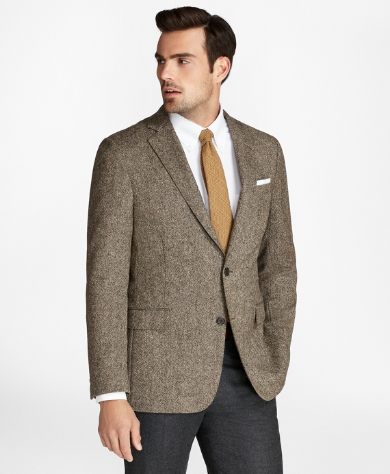 Regent Fit BrooksTweed® Donegal Sport Coat Brown