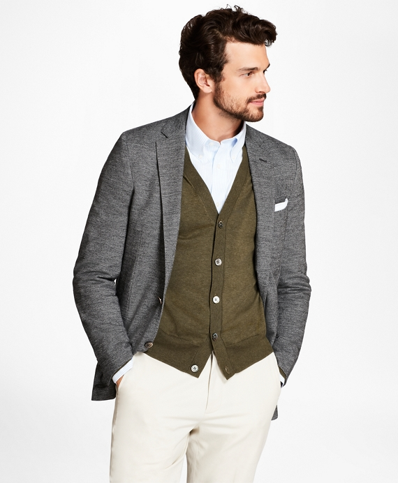 Regent Fit Mini-Brokenbone Sport Coat Grey