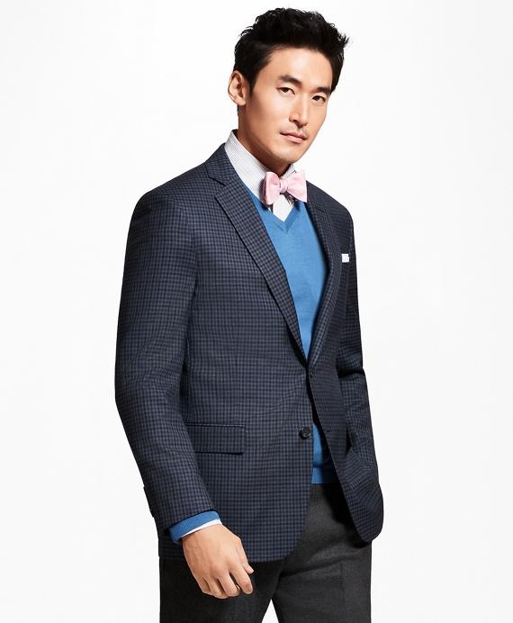 Regent Fit Multi-Check Sport Coat Blue