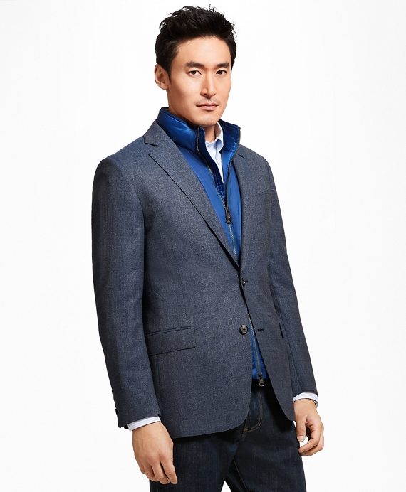 Regent Fit Hopsack Sport Coat Blue