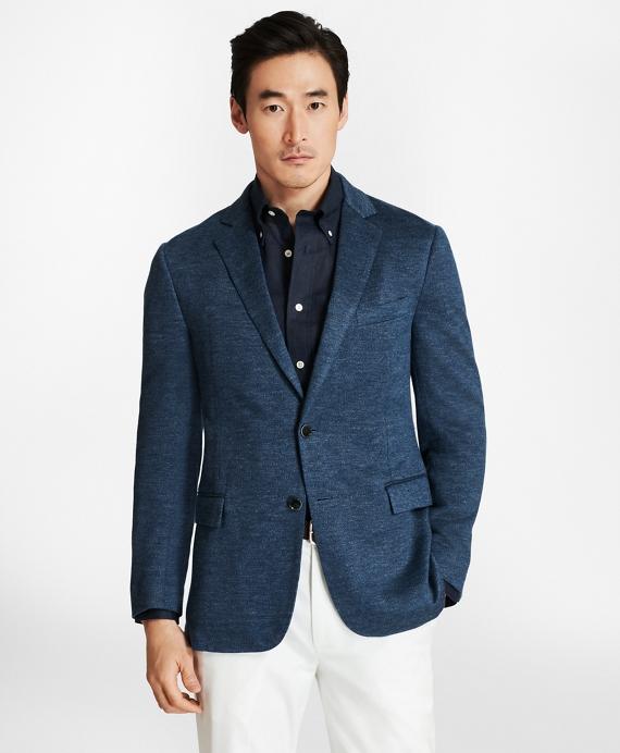 Regent Fit Linen Knit Sport Coat Blue