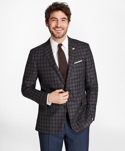 Regent Fit Saxxon™ Wool Check Sport Coat