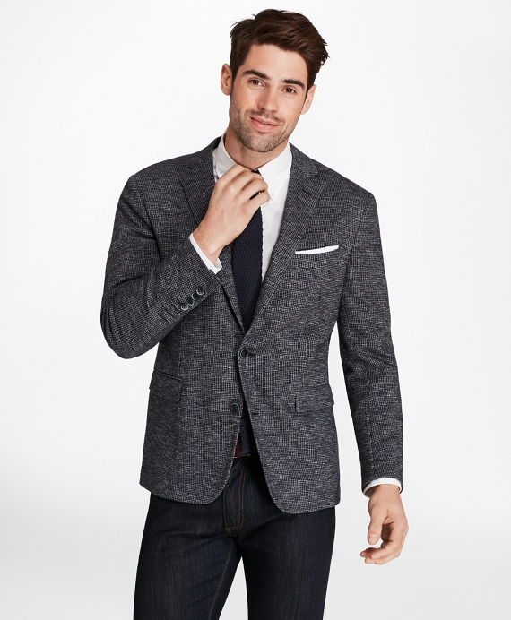 Regent Fit Check Knit Sport Coat Grey