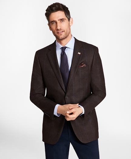 Madison Fit Saxxon™ Wool Herringbone with Deco Sport Coat