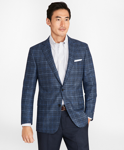 Regent Fit Saxxon™ Wool Plaid with Deco Sport Coat