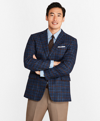 Regent Fit Donegal with Windowpane Sport Coat