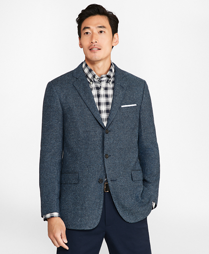 Regent Fit Three-Button Tic Sport Coat