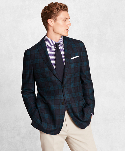 Golden Fleece® BrooksCloud™ Wool-Blend Black Watch Sport Coat