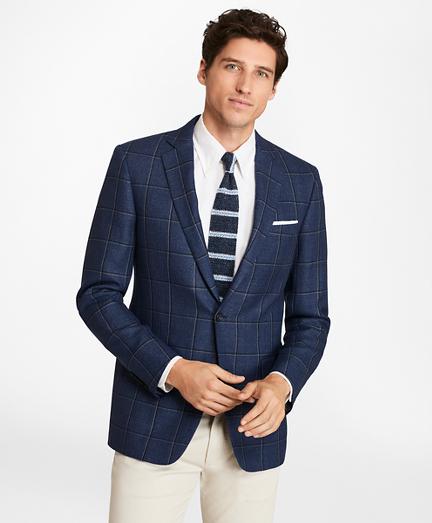 Regent Fit Two-Color Windowpane Sport Coat