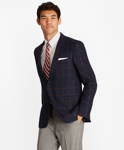Regent Fit Windowpane Sport Coat
