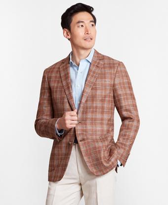Regent Fit Wool Blend Check Sport Coat