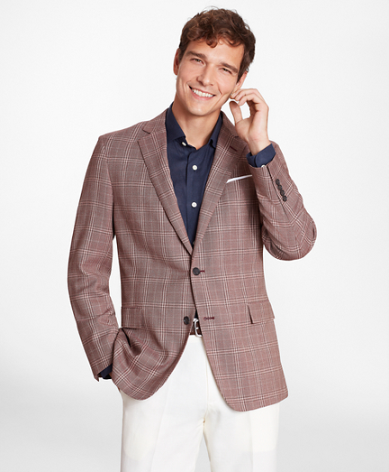 Regent Fit Rust with Tan Check Sport Coat