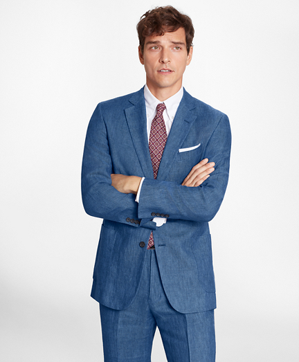 Regent Fit Linen Patch Pocket Sport Coat
