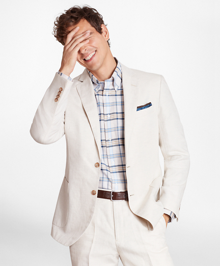 Regent Fit Cotton and Linen Sport Coat