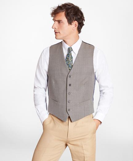 Geometric Five-Button Vest