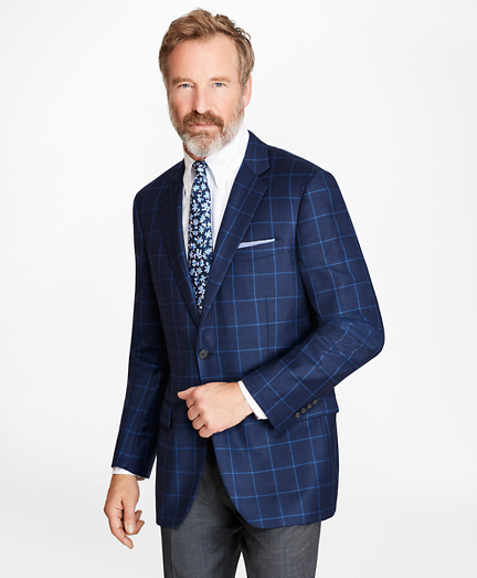 Madison Fit Navy Check Sport Coat