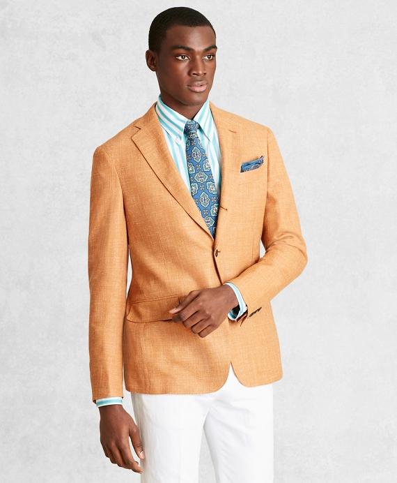Golden Fleece® Wool-Blend Basketweave Sport Coat Rust