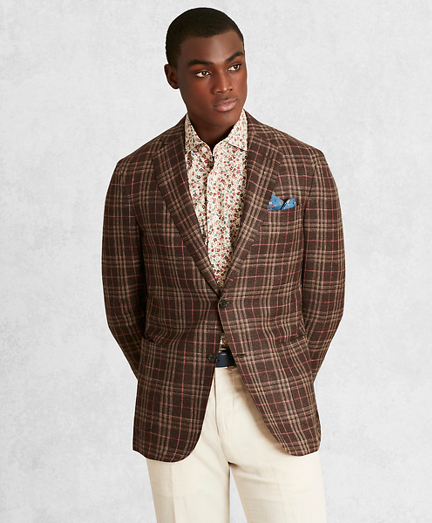 Golden Fleece® Silk-Blend Plaid Sport Coat