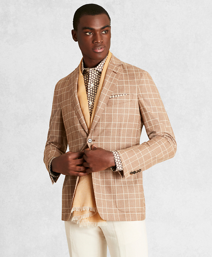 Golden Fleece® Wool-Blend Check Twill Sport Coat